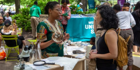 EXPLORE BIRDS with the Uni Project in Union Square