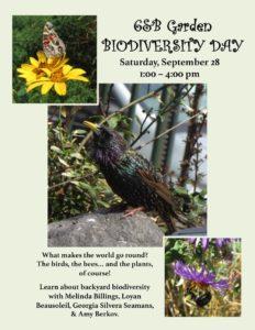 Biodiversity Day 2019 at 6&B Garden