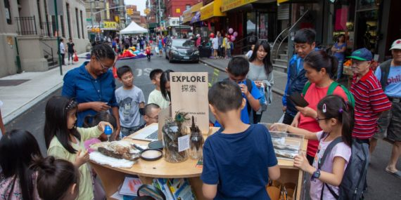 EXPLORE BIRDS with Street Lab EXPLORE NYC, 2018, Two Bridges neighborhood, photo c/o Street Lab